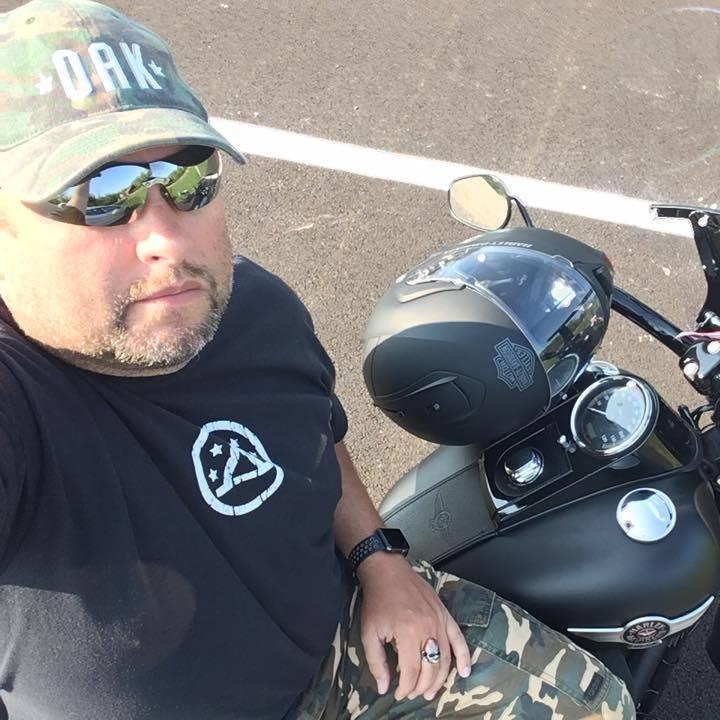 Bro. Martin on Harley